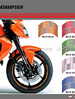 cheap -12 X Thick Edge Outer Rim Sticker Stripe Wheel Decals FIT ALL kawasaki Z750