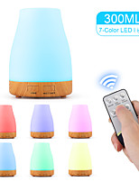 cheap -aroma diffuser 300ml humidifier Ultrasonic fragrance lamp Atomization Electric diffuser with 7 colors LED Essential oils Humidifier for home yoga office SPA bedroom