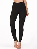 cheap -Women's High Waist Yoga Pants Winter Pocket Solid Color Black Military Green Running Fitness Gym Workout Tights Leggings Sport Activewear Moisture Wicking Butt Lift Tummy Control Power Flex High