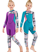 cheap -Dive&Sail Girls' Full Wetsuit 2.5mm SCR Neoprene Diving Suit Anatomic Design Long Sleeve Back Zip Patchwork Autumn / Fall Spring Winter / High Elasticity