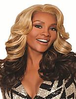abordables -Perruque Synthétique Bouclé Coupe Asymétrique Perruque Long Brun claire Cheveux Synthétiques 27 pouce Femme Meilleure qualité Noir
