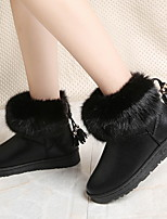 cheap -Women's Boots Flat Heel Round Toe PU Booties / Ankle Boots Fall & Winter Black / Pink / Gray