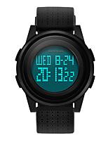cheap -Couple's Digital Watch Digital Stylish Stainless Steel PU Leather Black 30 m Water Resistant / Waterproof Chronograph Alarm Clock Digital Casual Outdoor - Black Black / White Black / White Two Years