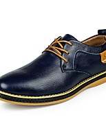 cheap -Men's Formal Shoes Leather Fall & Winter Oxfords Black / Brown / Blue
