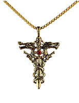 cheap -Men's Pendant Necklace Geometrical Cross Fashion Titanium Steel Gold Silver 50 cm Necklace Jewelry 1pc For Gift Daily