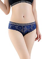 cheap -Women's Lace Brief - Asian Size Low Waist Black Wine White One-Size