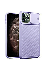 cheap -Case For Apple iPhone 11 / iPhone 11 Pro / iPhone 11 Pro Max Shockproof Back Cover Lines / Waves / Solid Colored TPU / PC