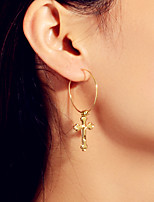 cheap -Women's Earrings Geometrical Cross Punk Trendy Fashion Cute Elegant Earrings Jewelry Gold For Party Daily Street Club Bar 1 Pair