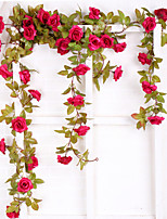 cheap -Artificial Flower Rose Rattan European Wedding Hanging Basket Home Decoration 1 Stick