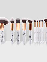 cheap -Miyaup marble pattern pole cosmetic brush large fan-shaped brush white bottom gray point nylon hair makeup brush