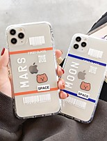 cheap -Case For Apple iPhone 11 / iPhone 11 Pro / iPhone 11 Pro Max Shockproof / Ultra-thin / Transparent Back Cover Word / Phrase / Transparent / Cartoon TPU