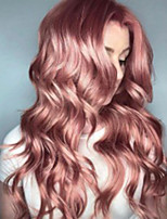 cheap -Synthetic Wig Body Wave Asymmetrical Wig Long Pink Synthetic Hair 23 inch Women's Best Quality Middle Part Pink