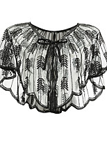 cheap -The Great Gatsby Retro Vintage 1920s Sparkle & Shine Party Costume Masquerade Women's Sequins Sequin Costume Black / Golden / Silver Vintage Cosplay Party Halloween / Shawl