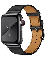 abordables -Bracelet de Montre  pour Apple Watch Series 4 / Apple Watch Series 3 / Apple Watch Series 2 Apple Bracelet en Cuir Vrai Cuir Sangle de Poignet