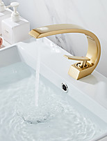 cheap -Bathroom Sink Faucet - Widespread Painted Finishes Centerset Single Handle One HoleBath Taps