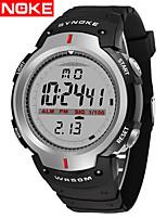 cheap -SYNOKE Digital Watch Digital Sporty Stylish Silicone 30 m Water Resistant / Waterproof Calendar / date / day LCD Digital Outdoor Fashion - Black Silver+Gray