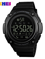 cheap -SKMEI Smartwatch Digital Modern Style Sporty Silicone 30 m Water Resistant / Waterproof Calendar / date / day Casual Watch Digital Casual Fashion - Black Black / Blue black / gold