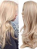 cheap -Synthetic Wig Curly kinky Straight Asymmetrical Wig Long Blonde Synthetic Hair 27 inch Women's Best Quality Blonde