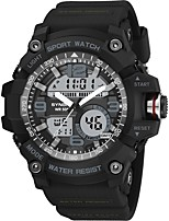 cheap -SYNOKE Digital Watch Digital Sporty Stylish Silicone 30 m Water Resistant / Waterproof Calendar / date / day LCD Analog - Digital Outdoor Fashion - Black Green
