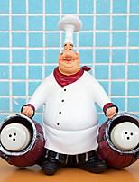 abordables -chef résine artisanat vintage décor à la maison chef ameublement ornements artesanato figurine décoration cuisiner cuisine restaurant bar café