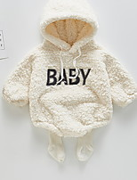 cheap -Baby Girls' Basic Print Long Sleeve Bodysuit White