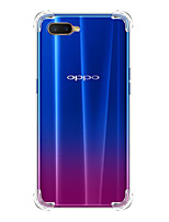 cheap -Case For OPPO OPPO R9 / OPPO A7 / oppo A5 Shockproof Back Cover Transparent TPU