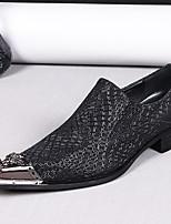 abordables -Homme Chaussures de nouveauté Cuir Nappa Printemps été / Automne hiver Classique / Britanique Mocassins et Chaussons+D6148 Ne glisse pas Noir / Soirée & Evénement