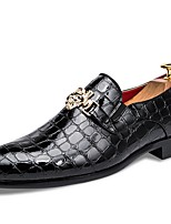 cheap -Men's Formal Shoes Patent Leather Fall & Winter Loafers & Slip-Ons Black / Red / Blue