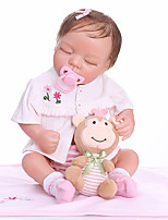 cheap -NPKCOLLECTION 20 inch Reborn Doll Baby Baby Girl lifelike Gift Hand Made Full Body Silicone Silicone Silica Gel with Clothes and Accessories for Girls' Birthday and Festival Gifts