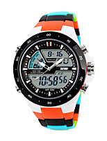 cheap -SKMEI Smartwatch Digital Modern Style Sporty Silicone 30 m Water Resistant / Waterproof Calendar / date / day Casual Watch Analog - Digital Casual Fashion - Black Orange Green