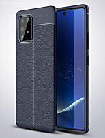 cheap -Case For Samsung Galaxy A91 / A81 / A71 / A51 Litchi Grain Shockproof Soft TPU Phone Case for Samsung Galaxy A70S/A50S/A40S/A30S/A20S/A10S/A70/A60/A50/A40/A30/A20/A10