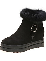 cheap -Women's Boots Hidden Heel Round Toe Suede Booties / Ankle Boots Fall & Winter Black / Brown