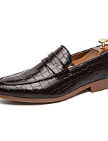 cheap -Men's Formal Shoes Cowhide Fall & Winter Loafers & Slip-Ons Black / Brown