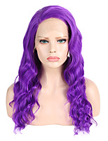 cheap -Synthetic Lace Front Wig Wavy Side Part Lace Front Wig Long Purple Synthetic Hair 18-26 inch Women's Cosplay Soft Party Purple