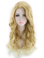 abordables -Perruque Synthétique Bouclé Coupe Asymétrique Perruque Long Blond Cheveux Synthétiques 27 pouce Femme Meilleure qualité Blond