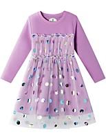cheap -Kids Girls' Polka Dot Dress Purple
