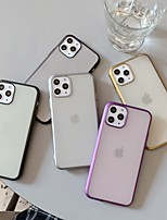 cheap -Case For Apple iPhone 11 / iPhone 11 Pro / iPhone 11 Pro Max Shockproof / Plating / Ultra-thin Back Cover Solid Colored TPU