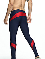 cheap -TAUWELL Men's Running Tights Compression Pants Sports Leggings Running Fitness Jogging Breathable Quick Dry Soft Color Block Black / Yellow Blue+Red Black / White / Stretchy / Skinny