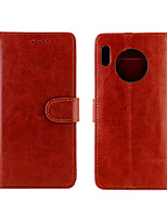 cheap -Case For Huawei Huawei Honor 9X Pro / Mate 30 / Mate 30 Pro  Palace flower PU Leather with Card Slot Flip up and down For nova 6
