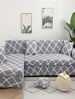 cheap -Grey Plaid Grid Print Dustproof All-powerful Slipcovers Stretch Sofa Cover