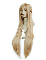 cheap -Synthetic Wig Curly Asymmetrical Wig Long Light Brown Synthetic Hair 39 inch Women's Best Quality Light Brown
