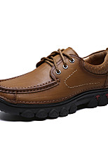 cheap -Men's Formal Shoes Nappa Leather Spring & Summer / Fall & Winter Classic / Casual Oxfords Non-slipping Black / Brown / Khaki