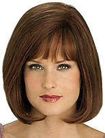 cheap -Synthetic Wig Curly Asymmetrical Wig Short Golden Brown Synthetic Hair 11 inch Women's Best Quality Black