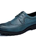 cheap -Men's Comfort Shoes PU Fall & Winter Oxfords Black / Yellow / Blue