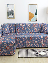 cheap -Luxury Floral Print Dustproof All-powerful Slipcovers Stretch L Shape Sofa Cover Super Soft Fabric Couch Cover with One Free Pillow Case
