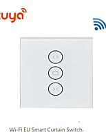 cheap -WIFI curtain switch Amazon ALEXA voice control WIFI remote control touch curtain smart switch-EU PLUG