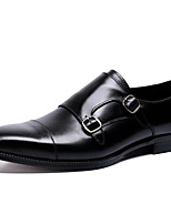 cheap -Men's Formal Shoes Nappa Leather Spring & Summer / Fall & Winter Classic / British Loafers & Slip-Ons Non-slipping Black / Brown / Party & Evening