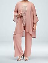 cheap -3/4 Length Sleeve Chiffon Wedding Women's Wrap With Solid Coats / Jackets