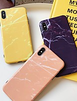 cheap -Case For Apple iPhone 11 / iPhone XS / iPhone XR Shockproof / Ultra-thin Back Cover Solid Colored / Marble PC