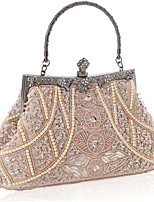 cheap -Women's Chain Polyester Evening Bag Solid Color Black / Champagne / Silver